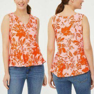NWT Loft floral peplum sleeveless top